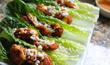 Ad: Boneless buffalo wing lettuce wraps