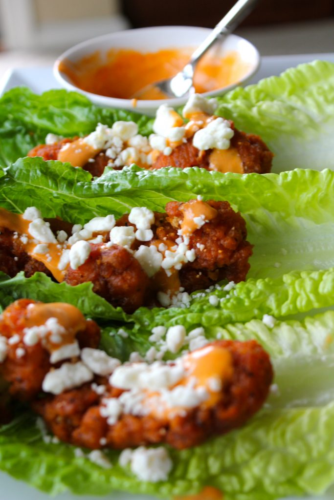 Boneless Buffalo Wing Lettuce Wraps Girl Gone Mom