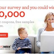 Earn cash and coupons for sharing your opinion at Shopper's Voice