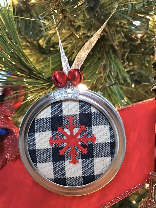 Snowflake Mason Jar Lid Ornament