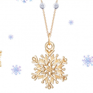 Giveaway: Helen Ficalora Sterling Silver Snowflake Mini Charm Necklace