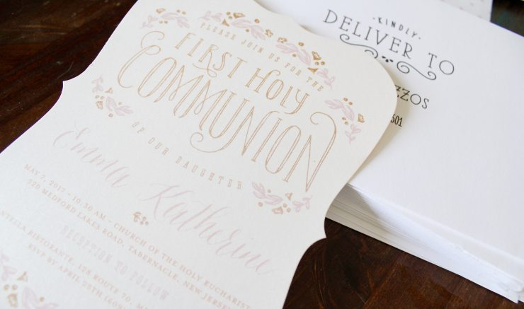 Beautiful FHC Communion Invitation