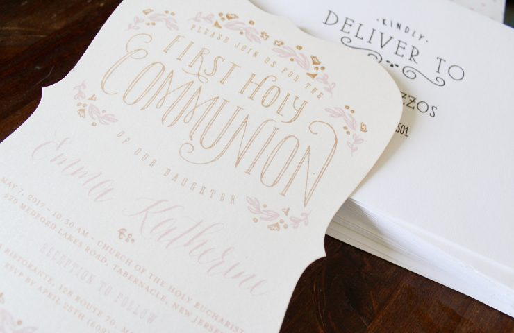 Beautiful First Holy Communion Invitations from Tiny Prints