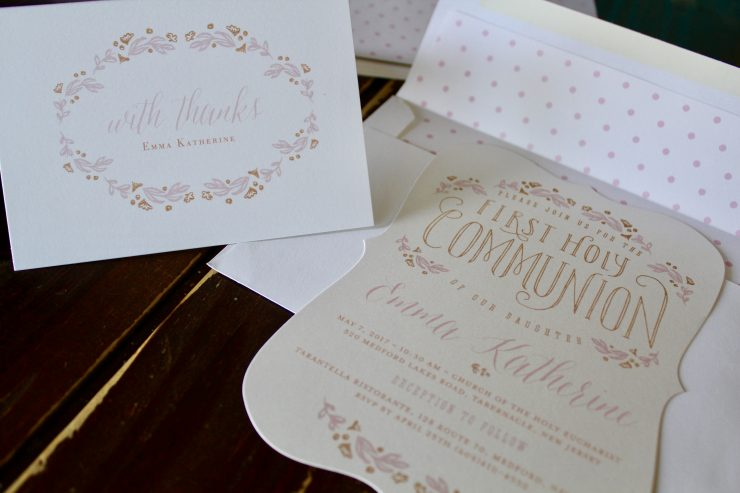 Beautiful First Holy Communion Invitation