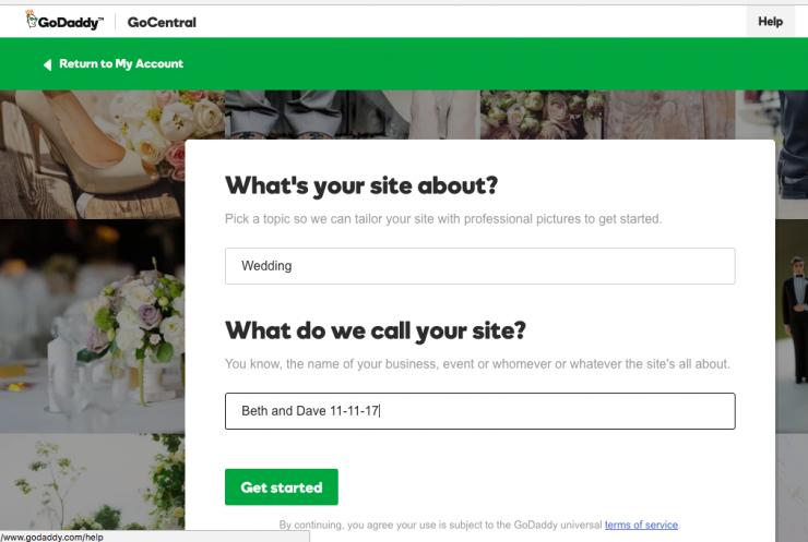 GoCentral Website Builder