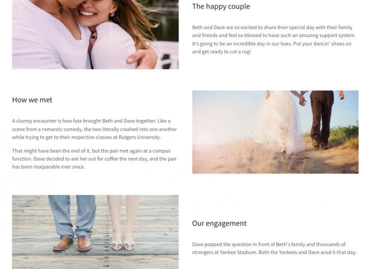 Go Central Wedding Website