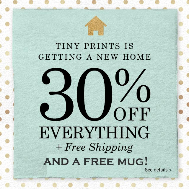 Tiny Prints Free Mug and 30% Off!