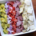Italian Antipasto Salad with Tony's Pizza