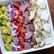 Italian Antipasto Salad with Tony's Pizza