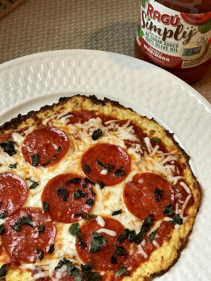 Personal Cauliflower Pizza with RAGÚ sauce