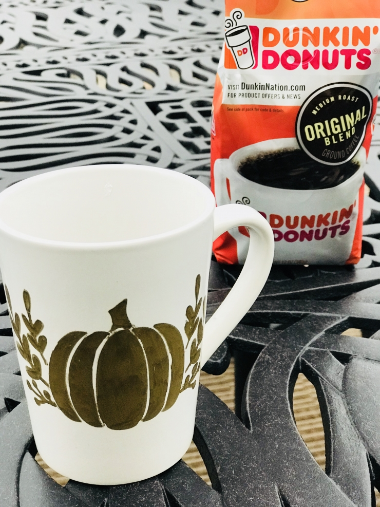 Golden Pumpkin Painted Mug Tutorial