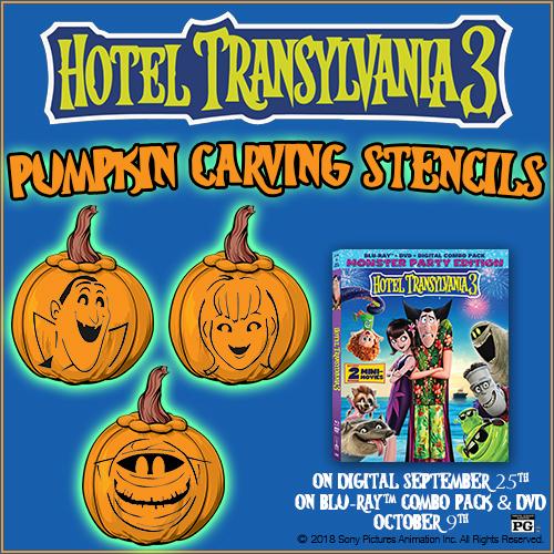 Hotel Transylvania 3 Pumpkin Carving Stencils