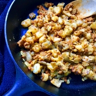 Vegetarian Chorizo Potato Hash #MeatlessMonday