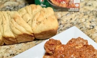 Easy Chicken Bruschetta with Twisted Garlic Bread Recipe